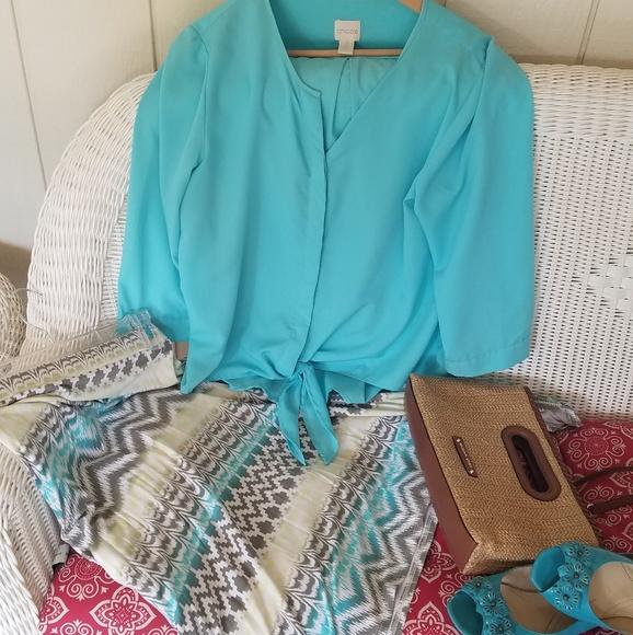 Chico's Dresses & Skirts - Chico's sharkbite skirt 2